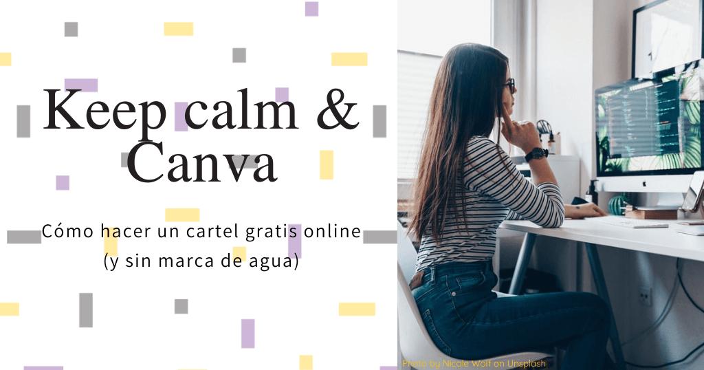 Cómo hacer un cartel gratis online con Canva