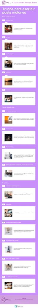 trucos para escribir posts molones infografía
