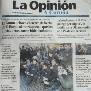 portada de la opinion sobre la Quedada Coruña