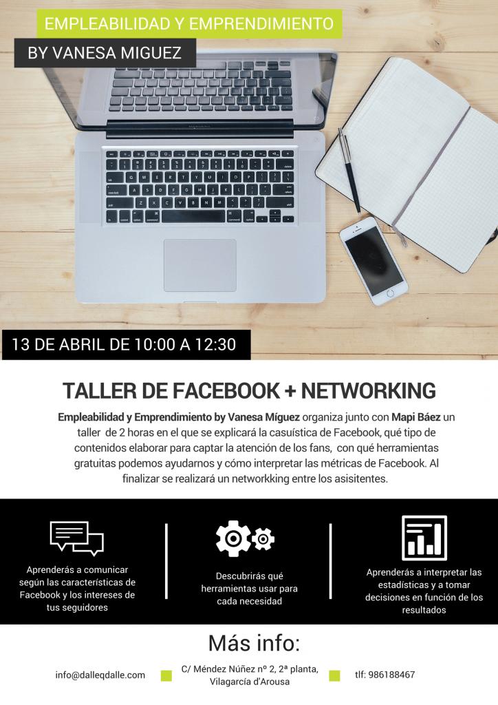 Contenidos del taller de Facebook más Speed Networking