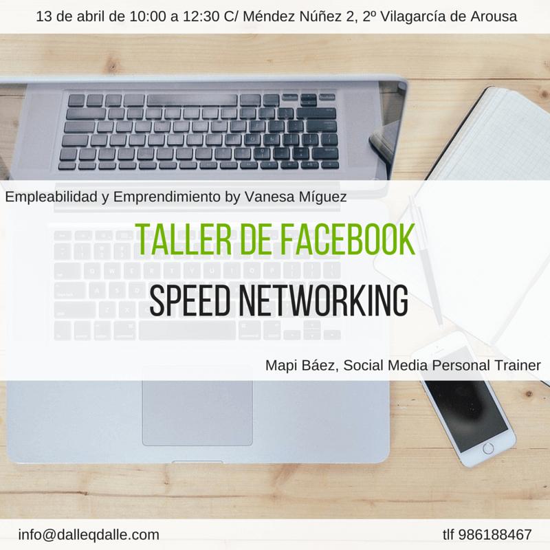 Cómo apuntarme al taller de Facebook más Speed Networking