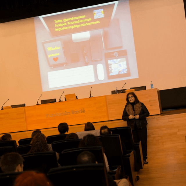 Arancha Serantes en el V Coruña Bloggers