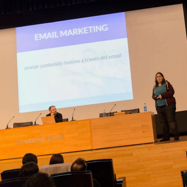 Jessica Gestoso en el V Coruña Bloggers