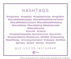 ejemplos de hashtags para instagram