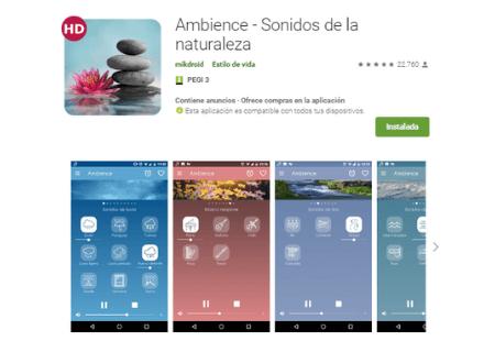 aplicaciones android ambience