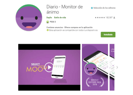 aplicaciones android daylio