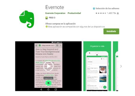 aplicaciones android evernote