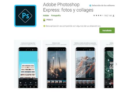 aplicaciones android fotoshop express