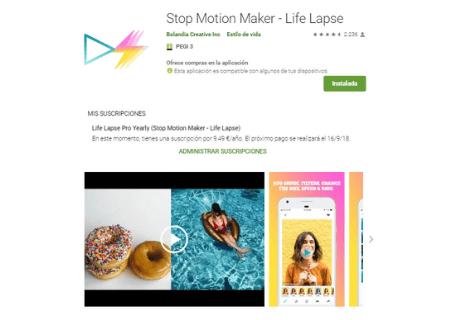 aplicaciones android lifelapse