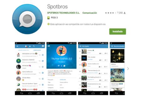 aplicaciones android spotbros