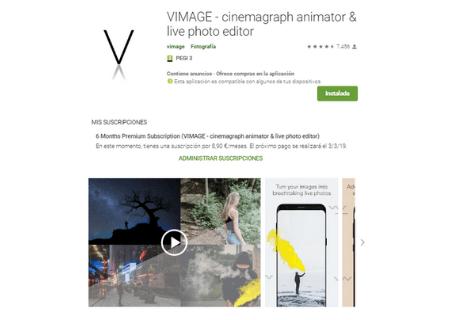 aplicaciones android vimage