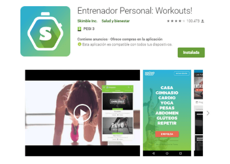 aplicaciones android workout