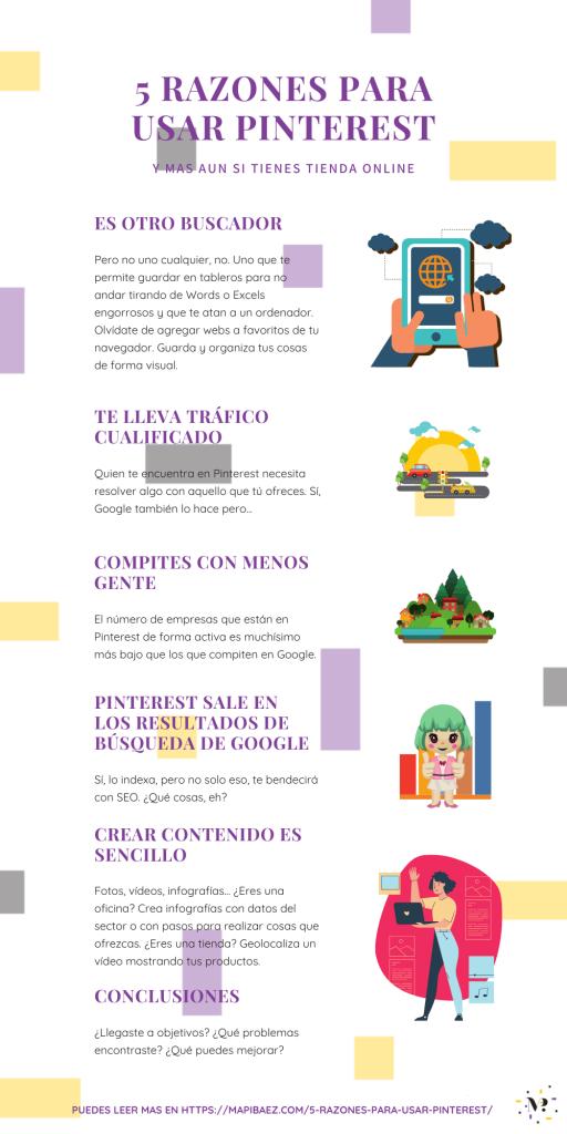 5 razones para usar Pinterest infografía