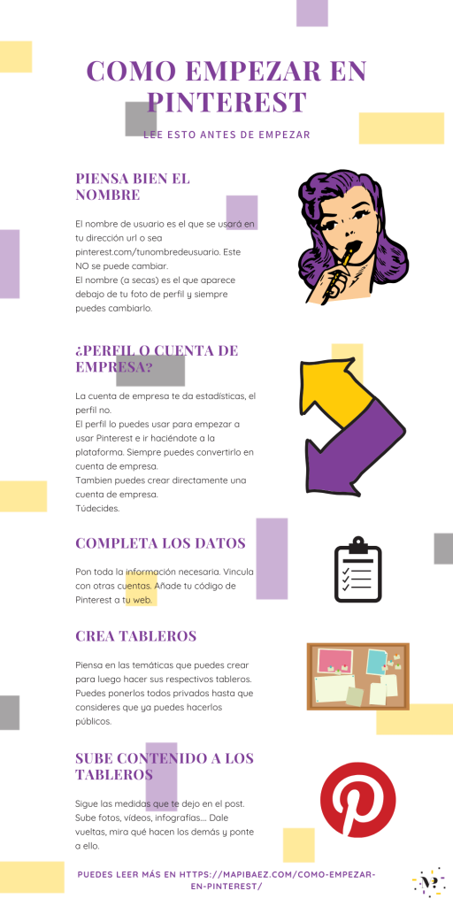 Cómo empezar en Pinterest infografía