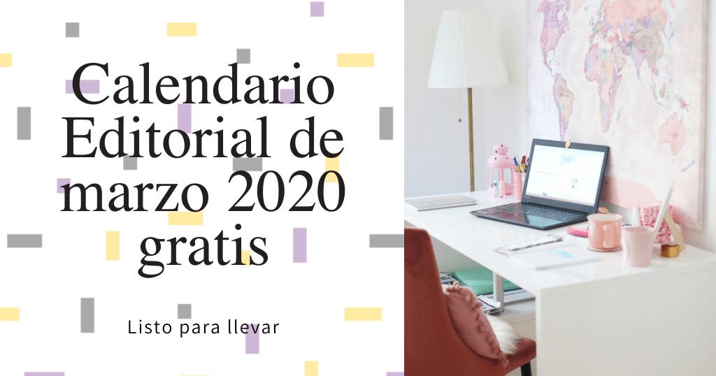 calendario editorial marzo 2020 listo para llevar